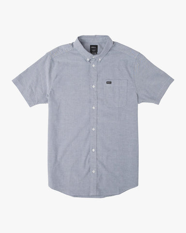 That'll Do Stretch Oxford Short Sleeve Shirt Men RVCA Distant Blue