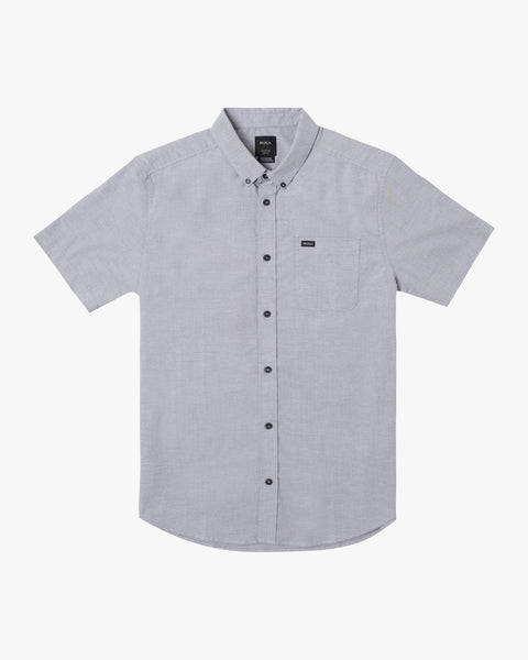 RVCA That'll Do Stretch Oxford Short Sleeve Shirt Men Pavement