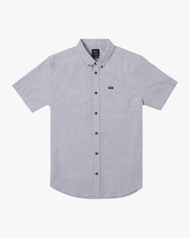 That'll Do Stretch Oxford Short Sleeve Shirt Men RVCA Pavement