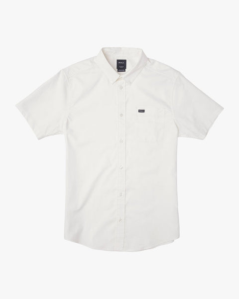 RVCA That'll Do Stretch Oxford Short Sleeve Shirt Men White