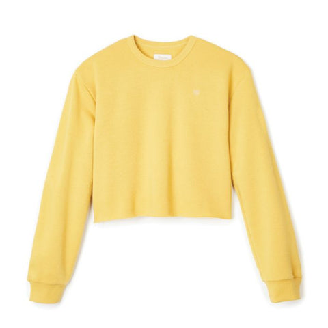 Vintage Crop Crew Women Brixton Sunset Yellow