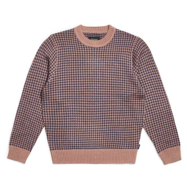 Wes Sweater Brixton Mauve/Washed Navy