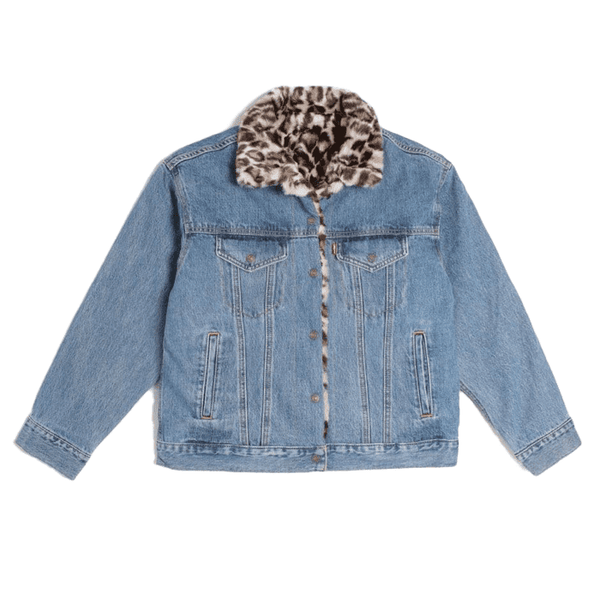 Fur Dad Trucker Jacket Women Levi's Cat Eye