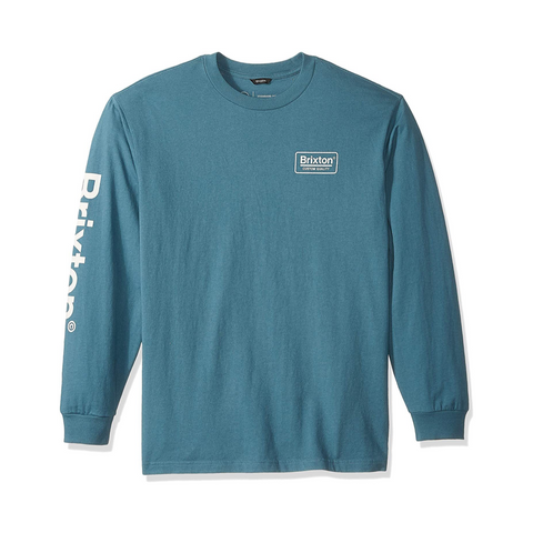 Brixton Palmer SV L/S PKT Tee Orion Blue
