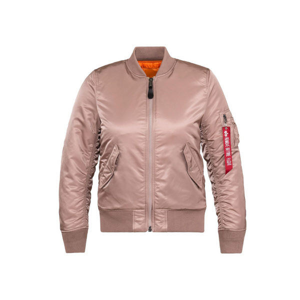 Alpha MA-1 Slim Women Jacket Mauve