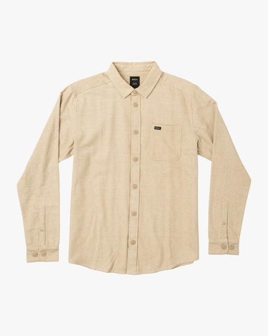 Black Sand Flannel Long Sleeve Men RVCA Dust Yellow