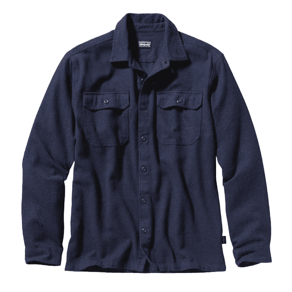 Patagonia Fjord Flannel LS Shirt Men New Navy