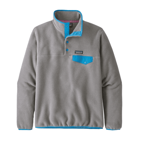 LW Synch Snap-T P/O Women Patagonia Feather Grey/Joya Blue