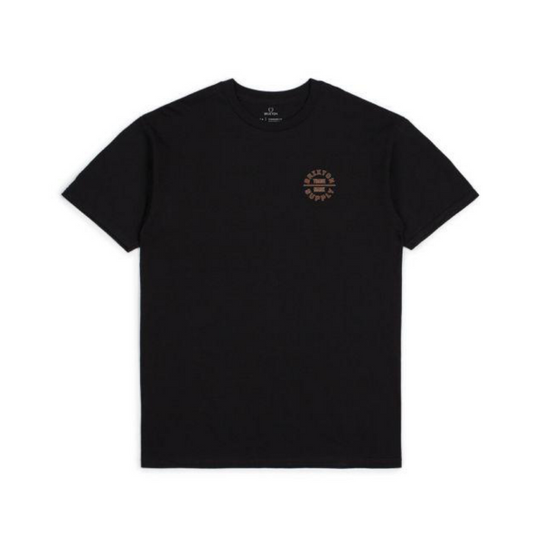 Brixton Oath V SS Standard Tee Men Black Dark Brick