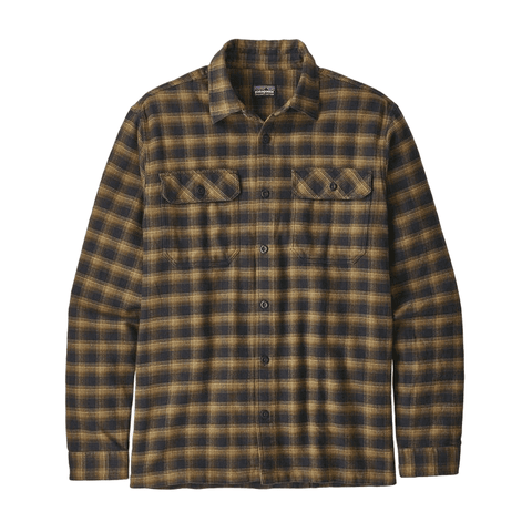 Fjord Flannel Shirt L/S Patagonia Mn Ink Black