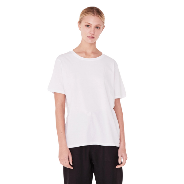 Assembly Label Essential Cotton Crew Tee Women Chalk White