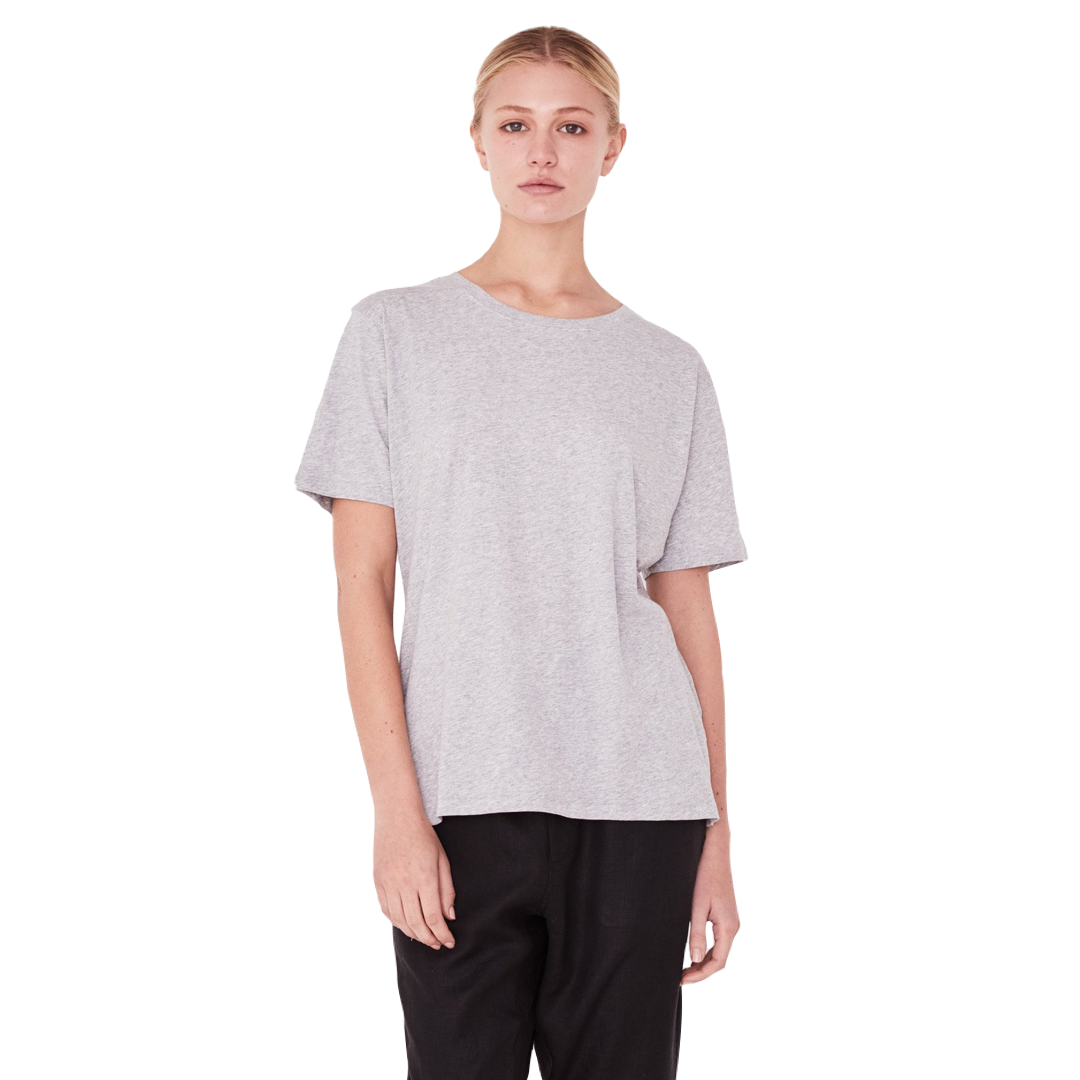 Assembly Label Essential Cotton Crew Tee Women Grey Marle