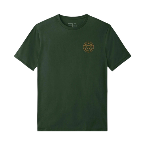 Brixton Crest Crossover SS Standard Tee Men Hunter Green