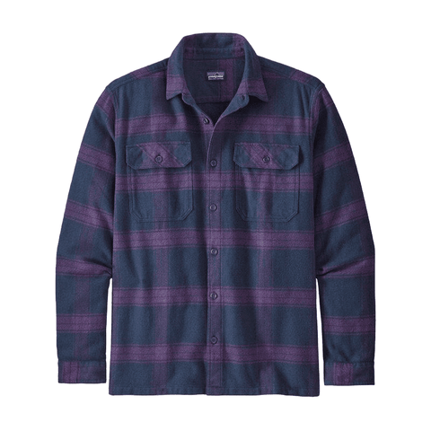 Fjord Flannel LS Shirt Men Patagonia Burlwood Purple