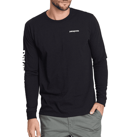 Text Logo Responsibili L/S Tee Men Patagonia Black