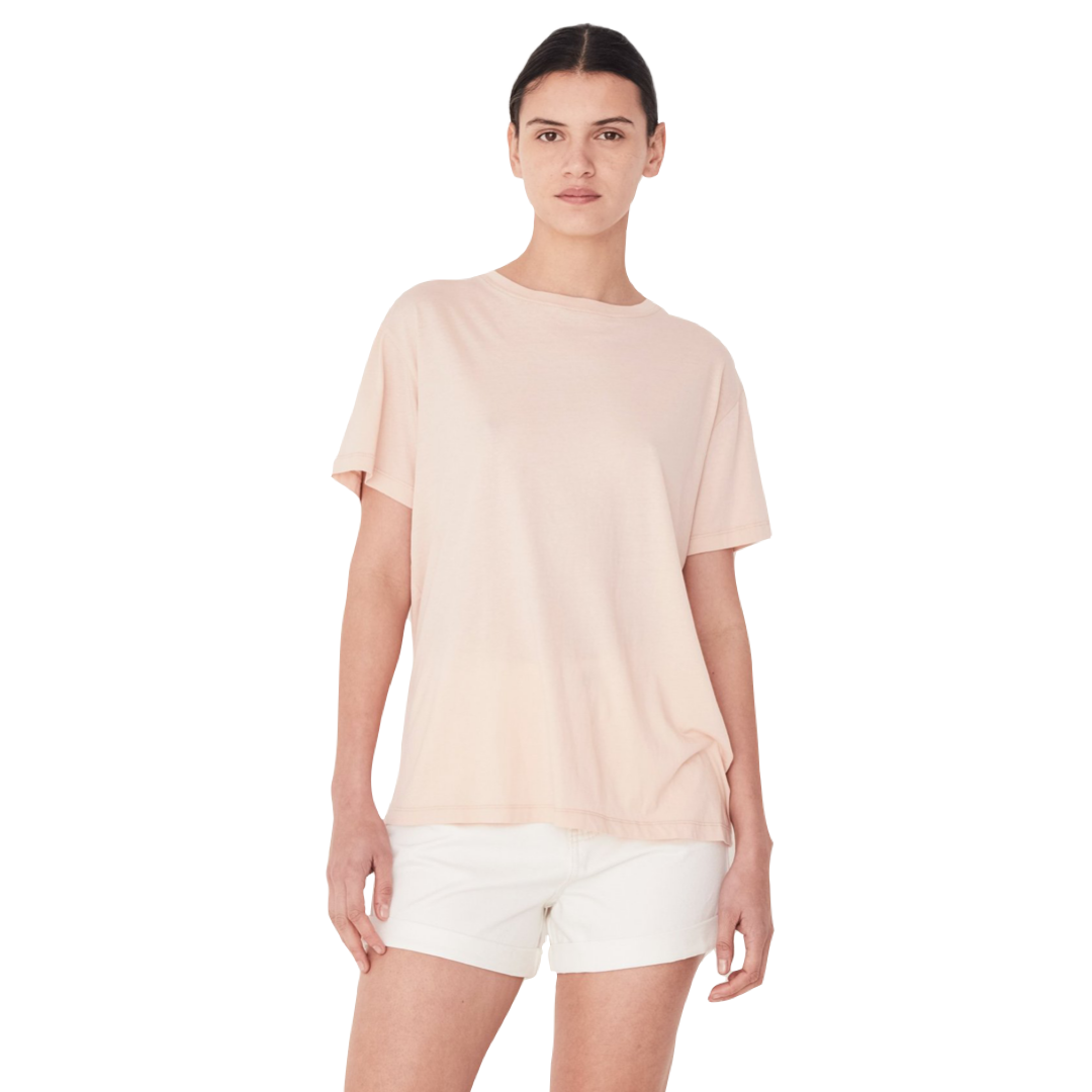 Assembly Label Essential Cotton Crew Tee Women Rosewater