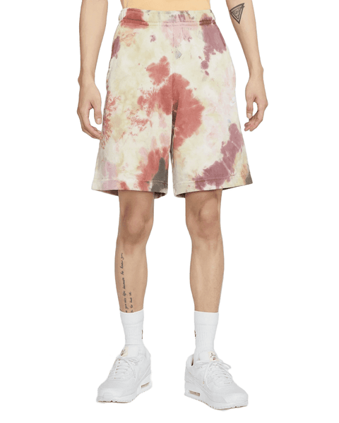 NSW French Terry Tie-Dye Short Men Nike Dark Beetroot Vintage Green White