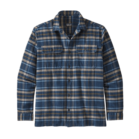 Fjord Flannel LS Shirt Men Patagonia Independence: New Navy