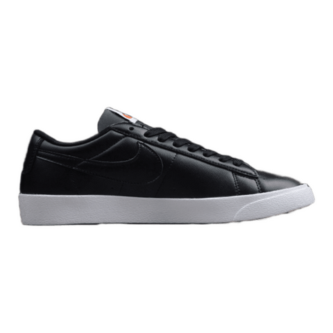 Nike Blazer Low Leather Women Black Black-White