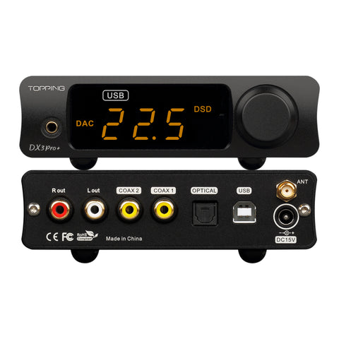 TOPPING DX3Pro+ Bluetooth DAC/Amp