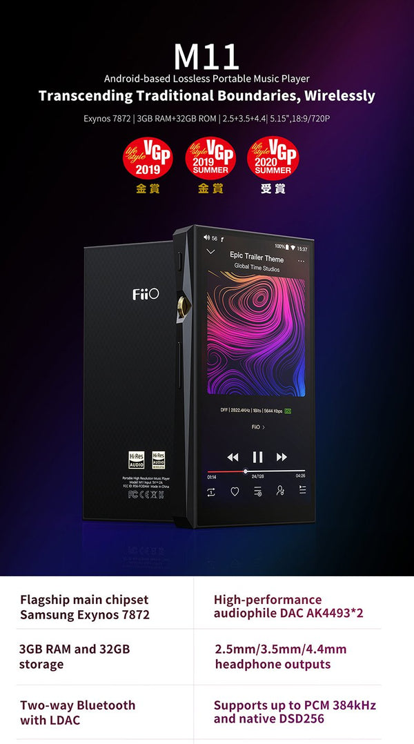 Apos Audio FiiO DAP (Digital Audio Player) FiiO M11 Lossless Portable Music Player