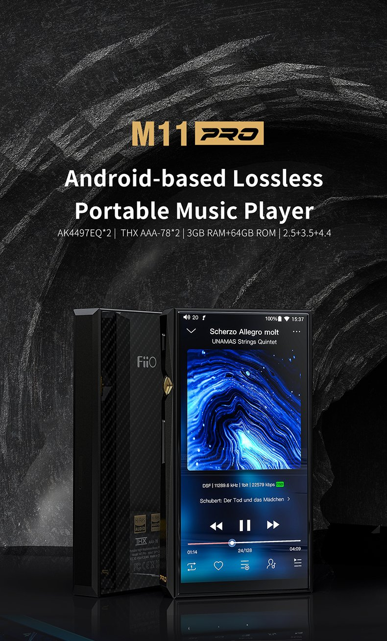 Apos Audio FiiO DAP (Digital Audio Player) FiiO M11Pro Lossless Portable Music Player