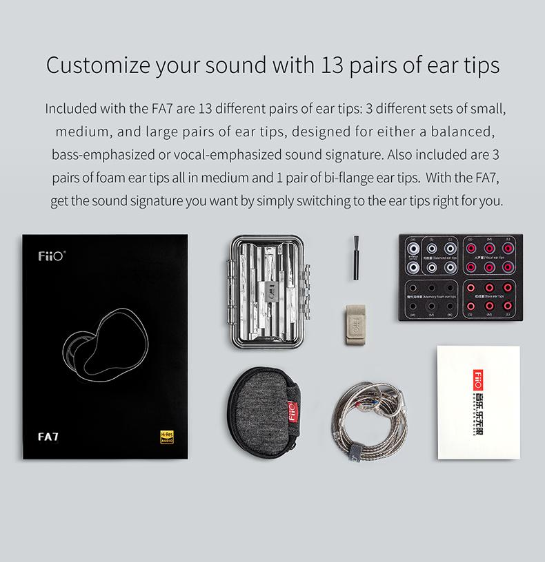 Apos Audio FiiO Earphone / In-Ear Monitor (IEM) FiiO FA7 In-Ear Monitors (IEMs)