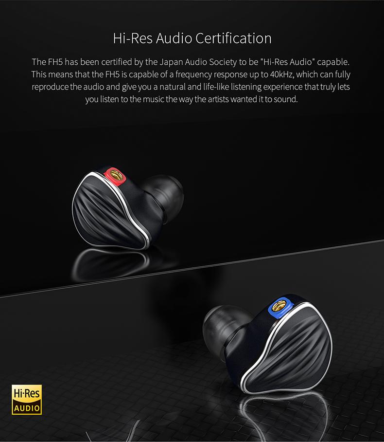 Apos Audio FiiO Earphone / In-Ear Monitor (IEM) FiiO FH5 Quad Driver Hybrid In-Ear Monitors (IEMs)