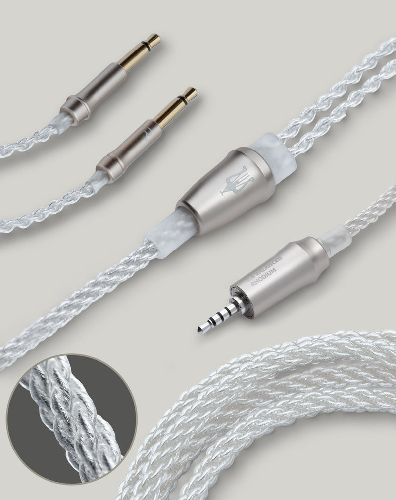 Apos Audio Meze Audio Cable Meze Audio 99 Series Silver Plated Upgrade Cable 2.5mm balanced