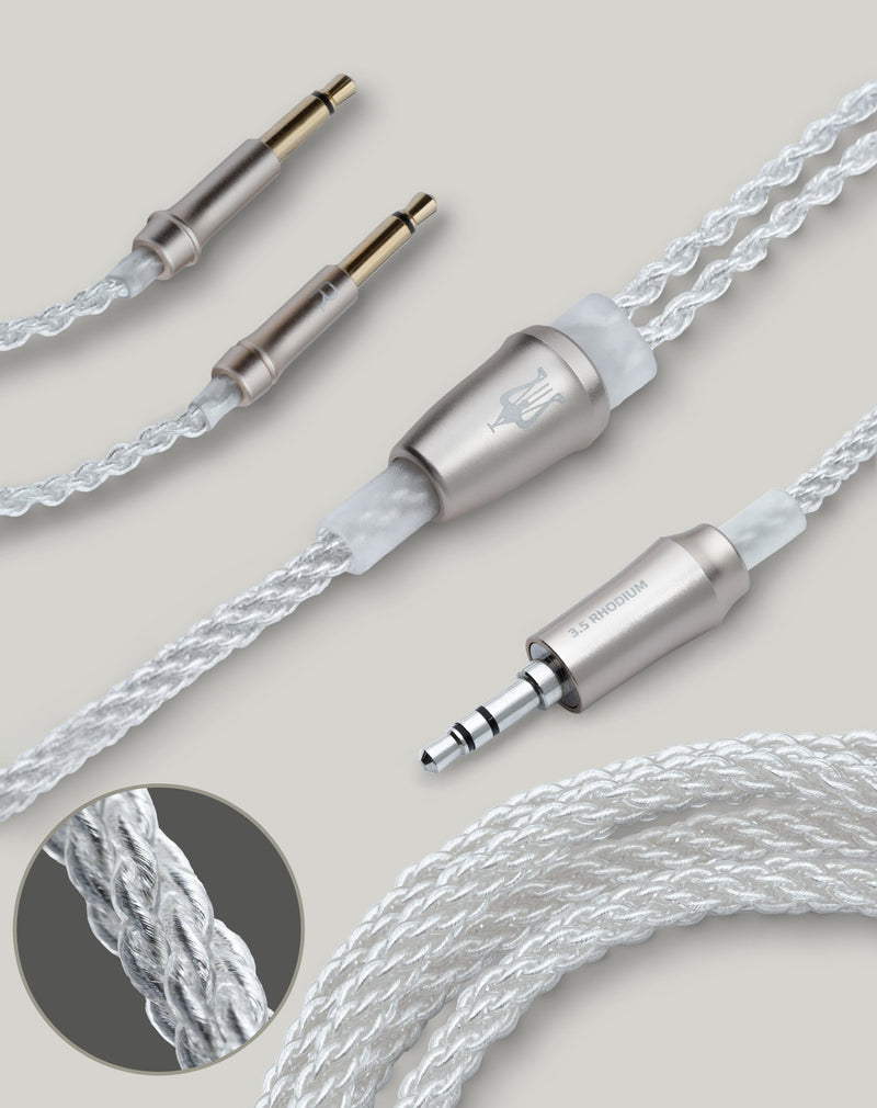 Apos Audio Meze Audio Cable Meze Audio 99 Series Silver Plated Upgrade Cable 3.5mm