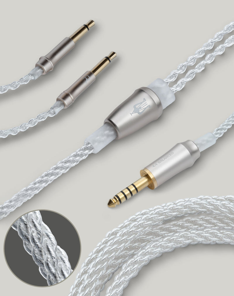Apos Audio Meze Audio Cable Meze Audio 99 Series Silver Plated Upgrade Cable 4.4mm balanced