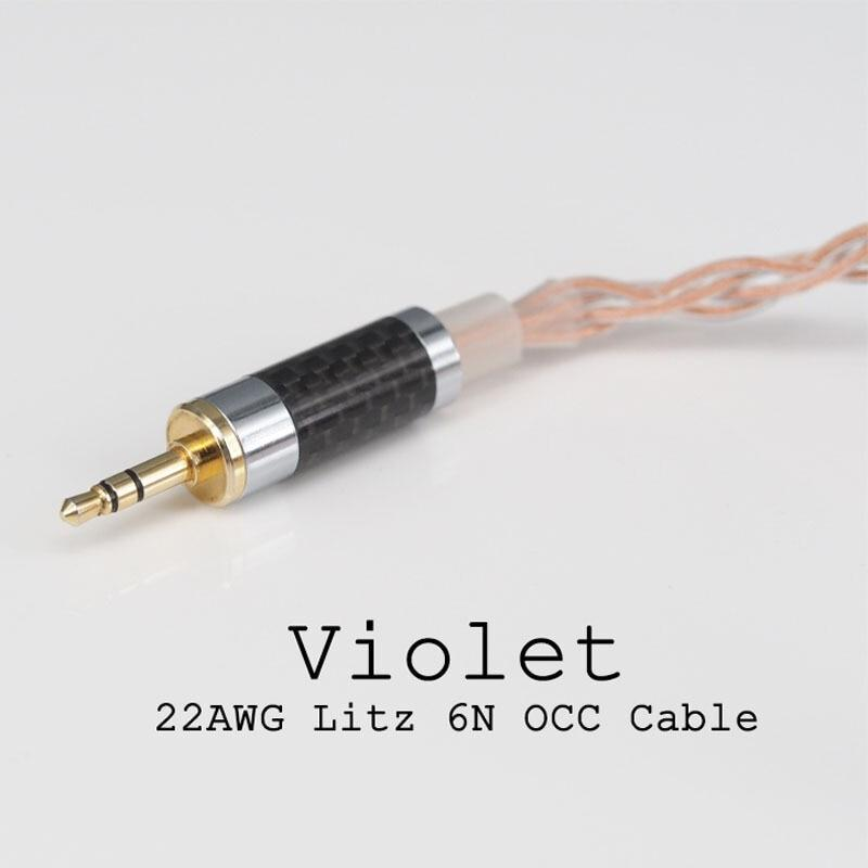 Apos Audio Moondrop | 水月雨 Cable Moondrop Lyre Acoustics Violet 22AWG Litz 6N OCC Cable