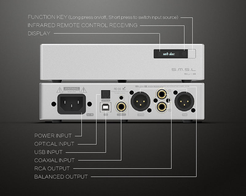 Apos Audio S.M.S.L | 双木三林 DAC (Digital-to-Analog Converter) SMSL SU-8 Version 2 DAC (Digital-to-Analog Converter)