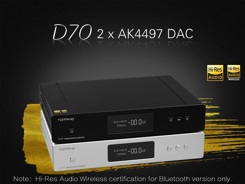 Apos Audio TOPPING | 拓品 DAC (Digital-to-Analog Converter) TOPPING D70 DAC (Digital-to-Analog Converter)