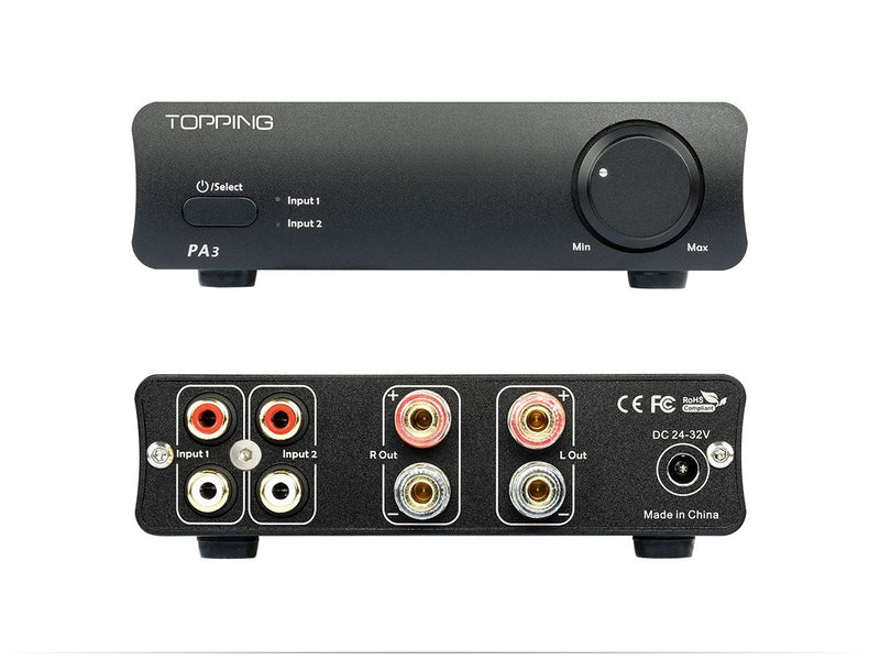 Apos Audio TOPPING | 拓品 Headphone Amp TOPPING PA3 Stereo Amplifier Black