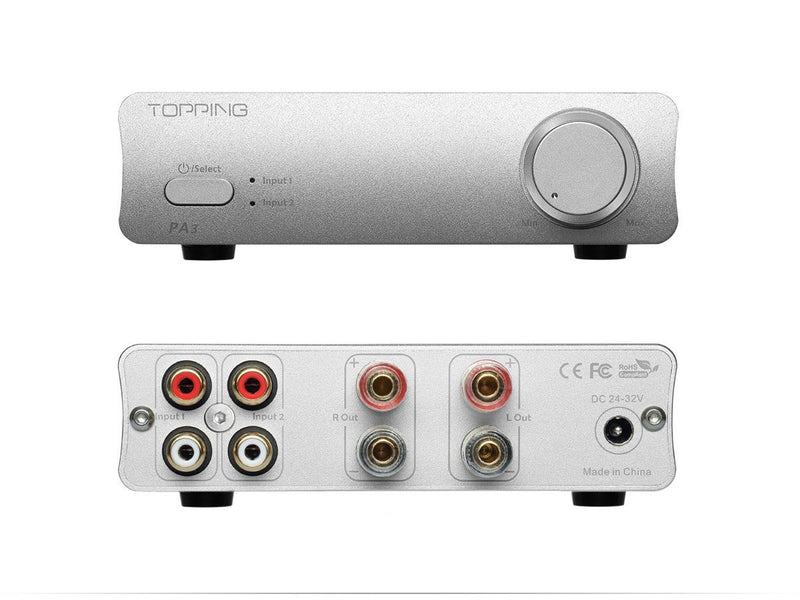 Apos Audio TOPPING | 拓品 Headphone Amp TOPPING PA3 Stereo Amplifier Silver