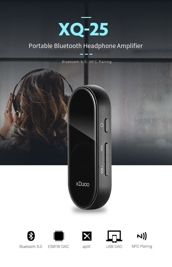 Apos Audio xDuoo | 乂度 Headphone DAC/Amp xDuoo XQ-25 Bluetooth DAC/Amp