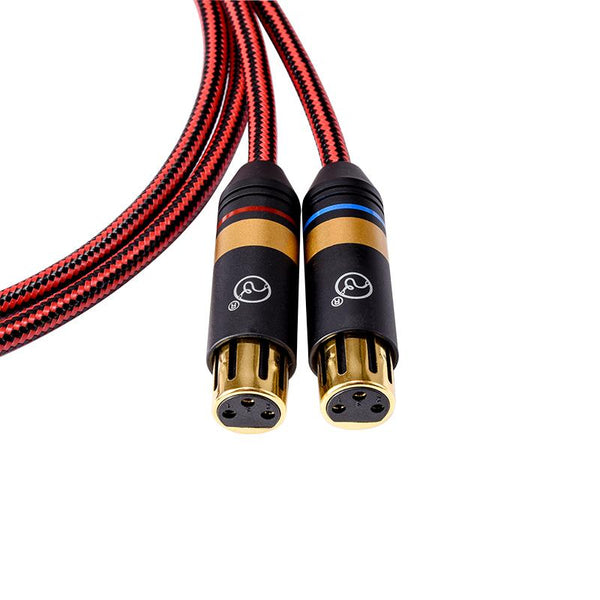 Apos Audio ZY Cable ZY 2XLR-F to 2XLR-M Balanced Signal Line Advanced Edition ZY-393 Cable