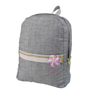 Gray Chambray Backpack