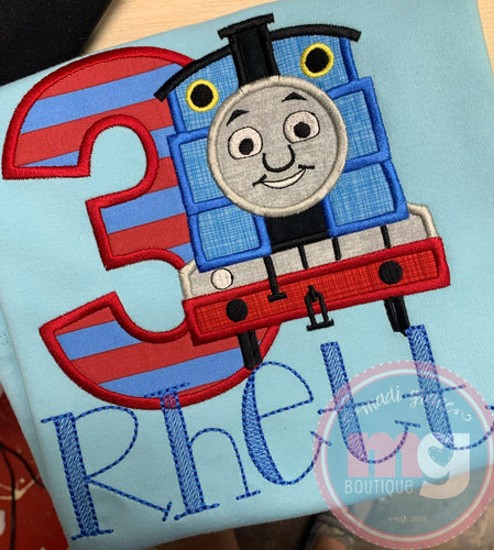 Thomas the Train Applique Design