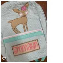 Load image into Gallery viewer, Mermaid Chambray Backpack