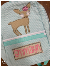Princess Seersucker Backpack