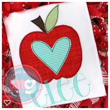 Apple with Heart Design