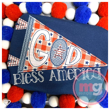 God Bless America Pennant Design