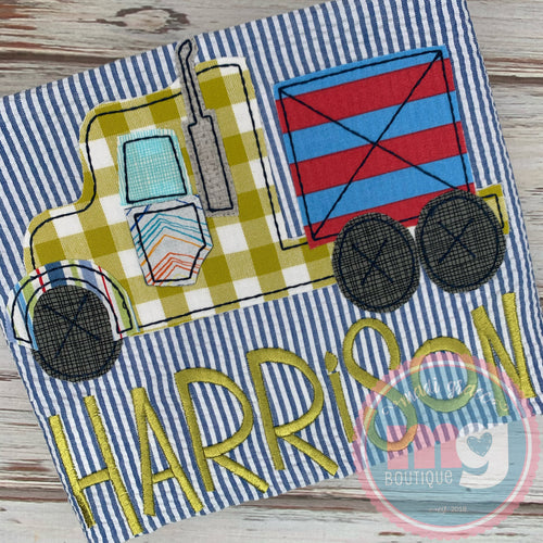 Semi Truck Pillowcase