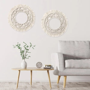 Geometric Fringed Wall Hanging
