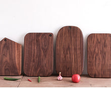 Load image into Gallery viewer, Black walnut solid wood chopping board or cheese board