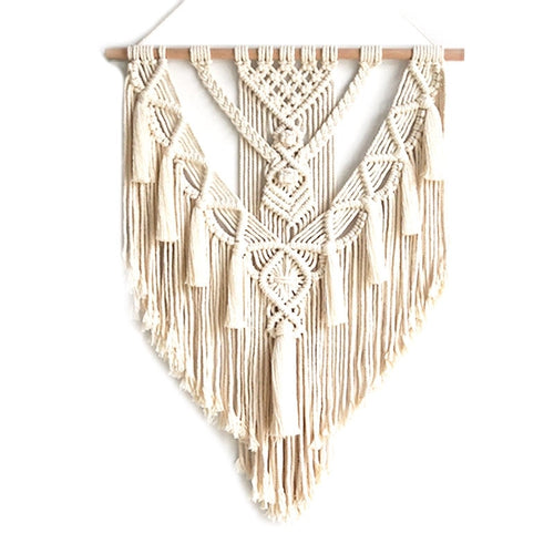 Yarn Dyed Cotton Macrame Wall Hanging