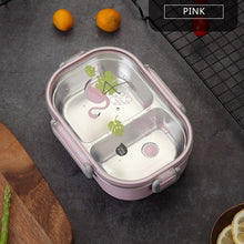 Load image into Gallery viewer, Worthbuy Japanese Carton Lunch Box 304 Stainless Steel Bento Box For Kids Food Storage Container Leak-Proof Bento Lunch Box - ecochic-babe
