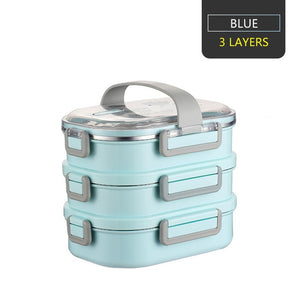 Worthbuy Japanese Carton Lunch Box 304 Stainless Steel Bento Box For Kids Food Storage Container Leak-Proof Bento Lunch Box - ecochic-babe